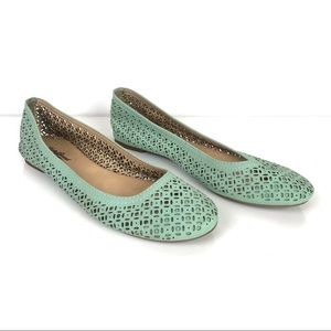 LUCKY BRAND | Mint Green Flats Sz 10 M